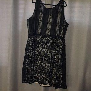 Lane bryant black lace dress size 28